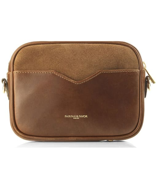 Women's Fairfax & Favor The Madison Suede Bag - Back and branding