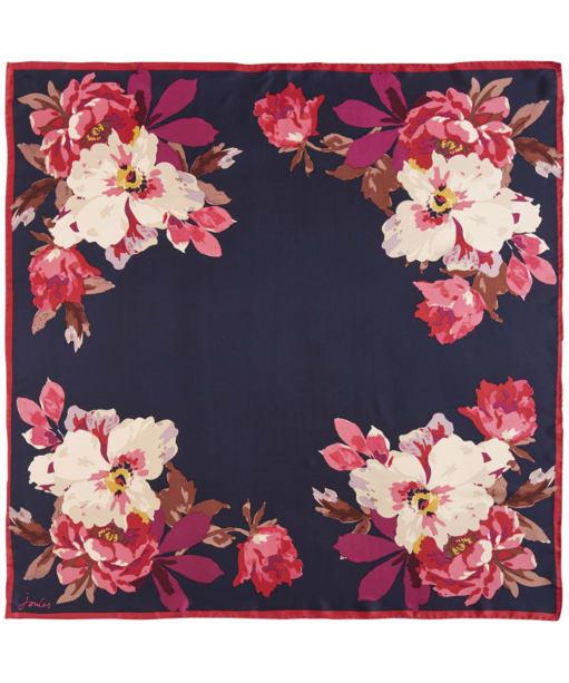 Women's Joules Bloomfield Silk Scarf - French Navy Bircham Bloom