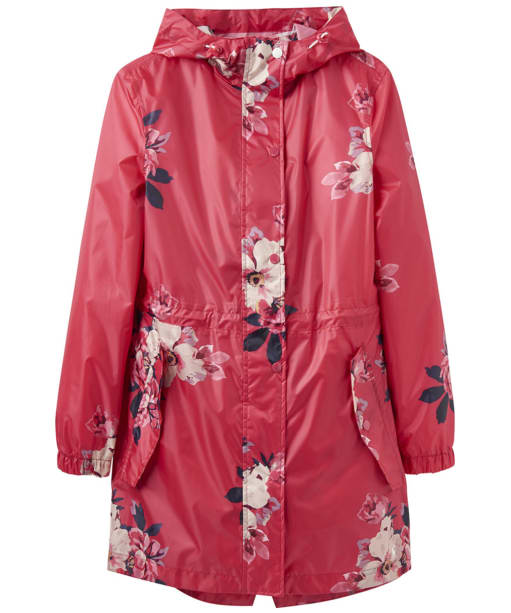 Women's Joules Golightly Waterproof Printed Jacket - Raspberry Bircham Bloom
