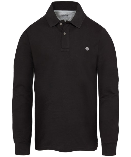 Men's Timberland Long Sleeved Millers River Polo Shirt - Black