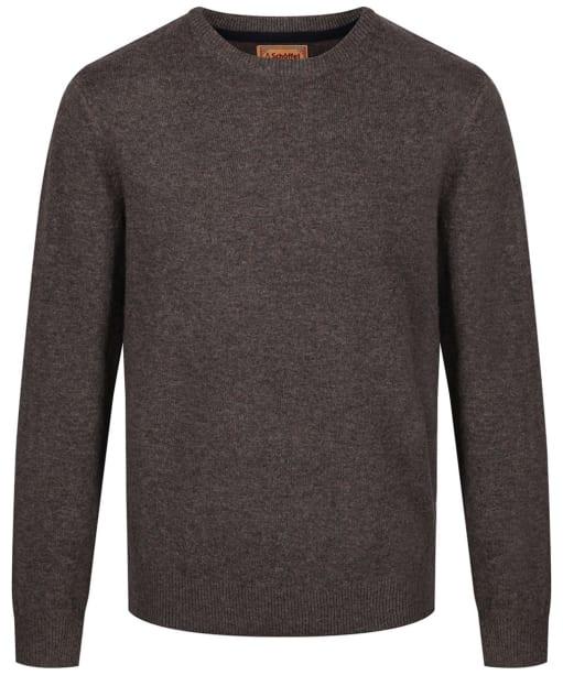 Men's Schoffel Lambswool Crew Neck Sweater - Mole