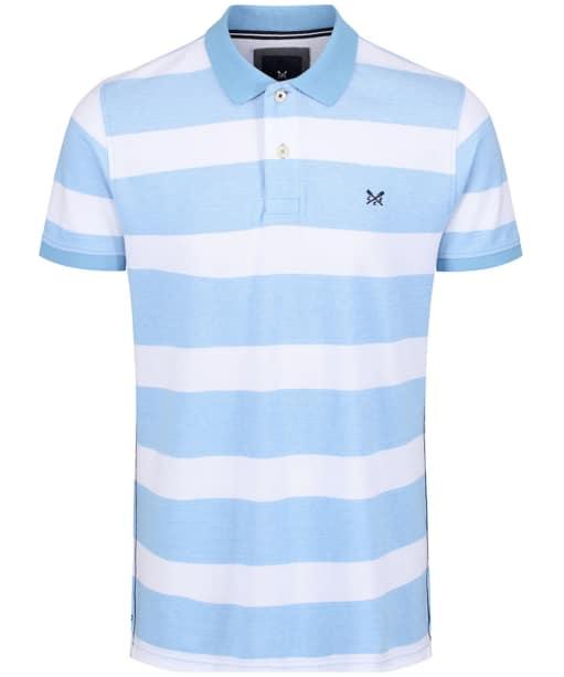 Men's Crew Clothing Two Tone Oxford Polo Shirt - Sky / White