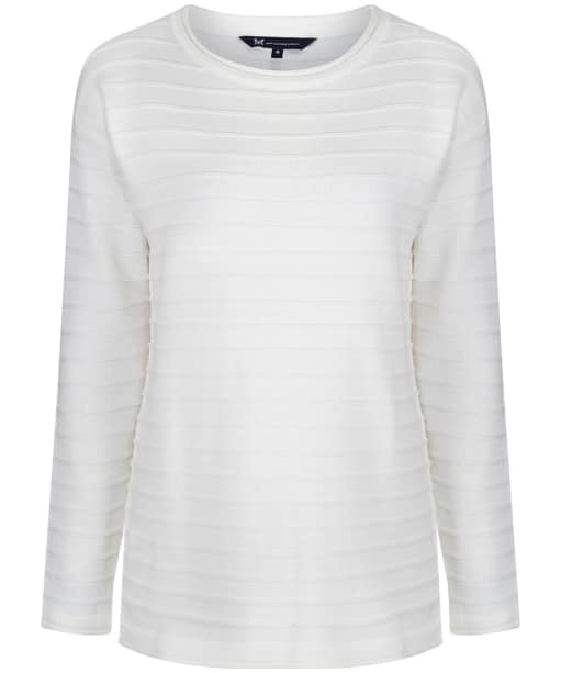 Women's Crew Clothing Salcombe Jumper - Optic White