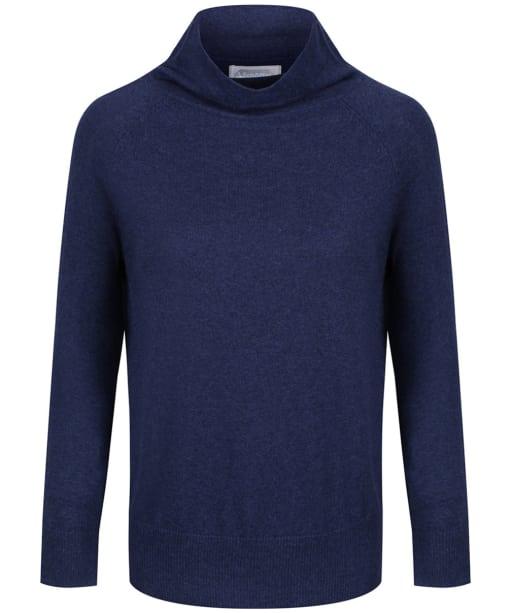 Women's Schoffel Cotton Cashmere Turtle Neck Sweater - Indigo