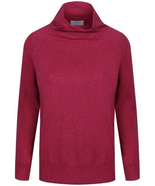 Women's Schoffel Cotton Cashmere Turtle Neck Sweater - Raspberry