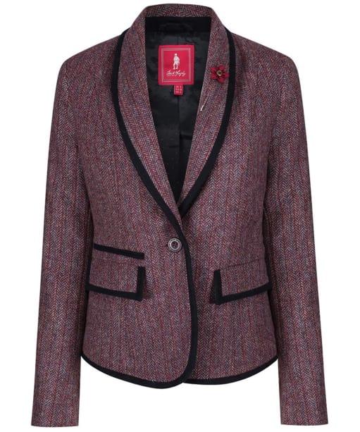 Women's Jack Murphy Margot Tweed Blazer - Plum Berry