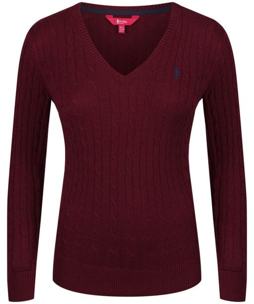 Women's Jack Murphy Katie V-Neck Sweater - Winter Burgundy