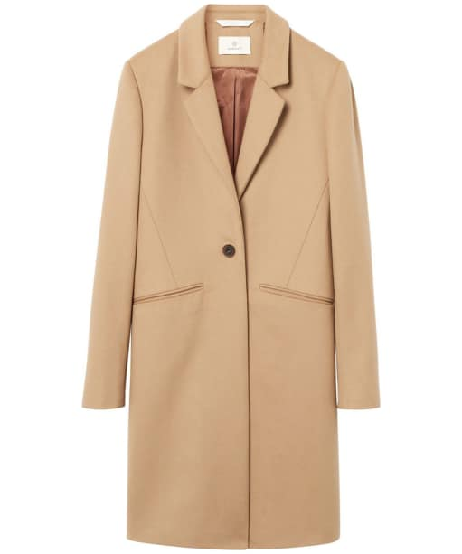 Women's GANT Diamond G Classic Tailored Coat - Beach Sand Mel