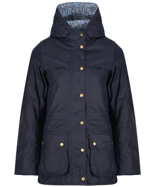 Women's Barbour Blaise Waxed Jacket - Royal Navy