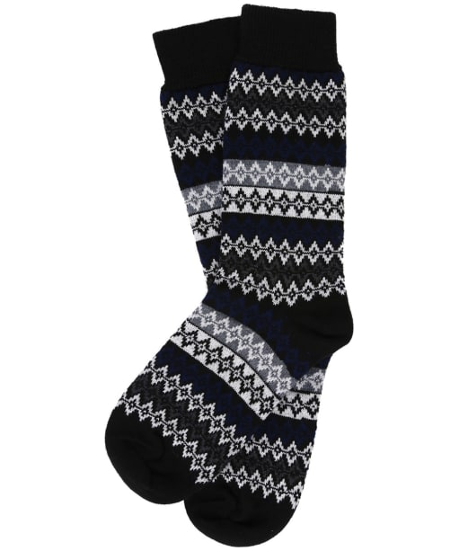 Men's Barbour Duxbury Fairisle Socks - Monochrome