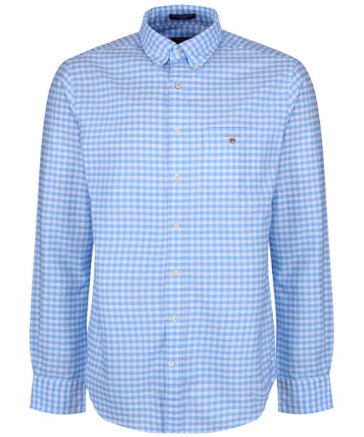 Men's GANT Oxford Gingham Shirt - Capri Blue