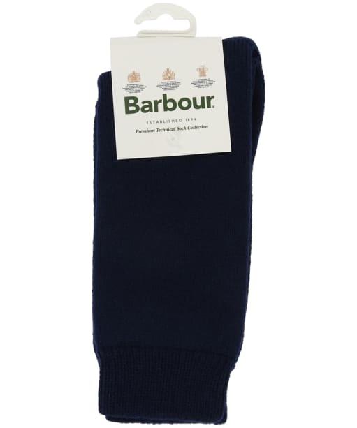 Men's Barbour Wellington Calf Socks - Navy