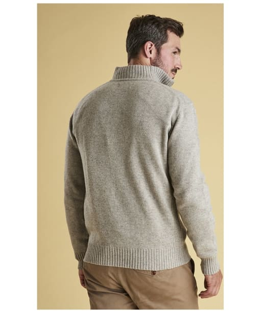 Men's Barbour Essential Lambswool Half Zip Sweater - Light Grey Marl