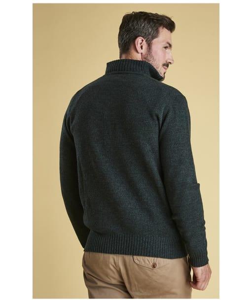 Men's Barbour Essential Lambswool Half Zip Sweater - Seaweed Mix