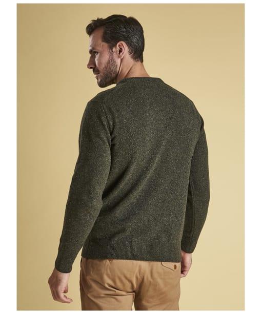 Men's Barbour Tisbury Crew Neck Sweater - Dark Seaweed