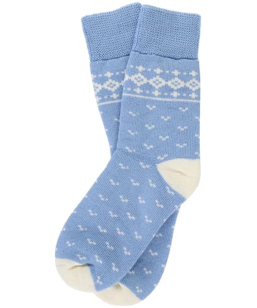 Women's Barbour Dover Socks - Blue / Cream