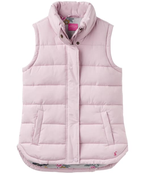 Women's Joules Eastleigh Padded Gilet - Soft Lilac