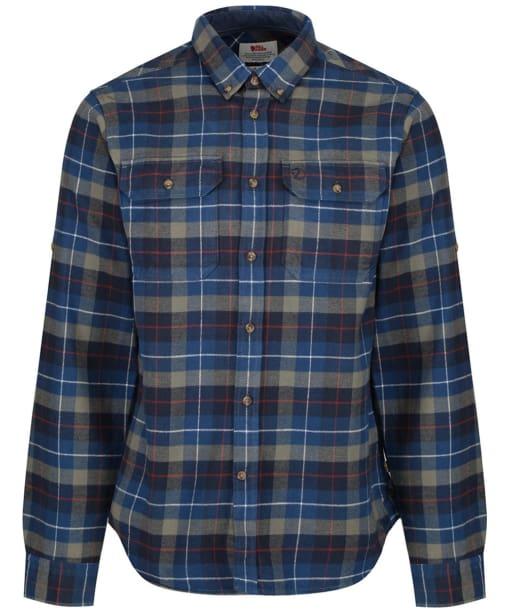 Men's Fjallraven Singi Heavy Flannel Long Sleeve Shirt - Navy