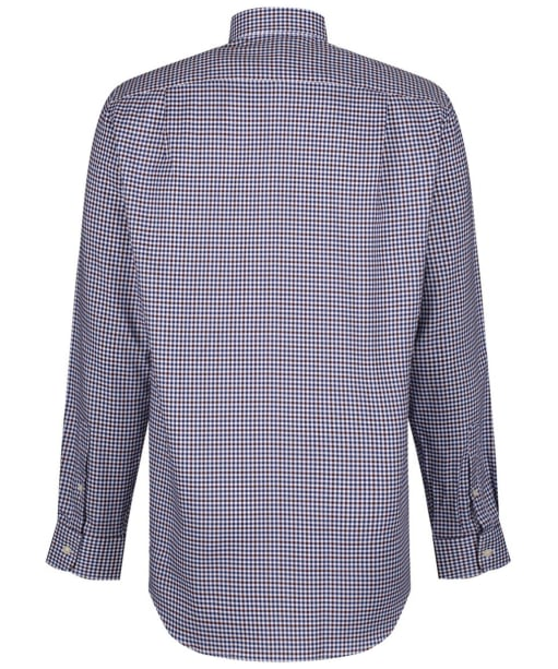 Men's Schoffel Burnsall Shirt - Navy / Fig Micro