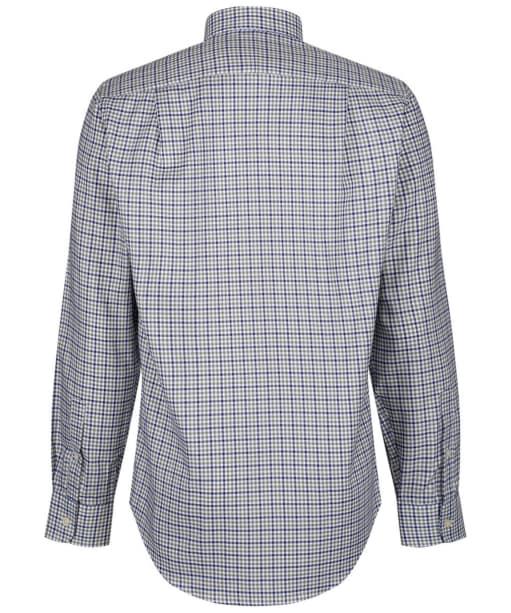 Men's Schoffel Burnsall Shirt - Navy / Olive Micro