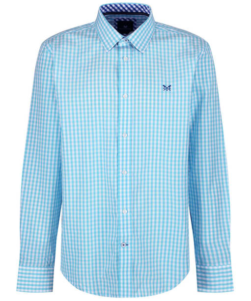 Men's Crew Clothing Classic Gingham Shirt - Blue Topaz
