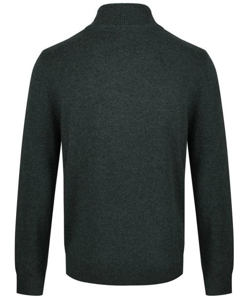 Men's Schoffel Lambswool ¼ Zip Sweater - Forest