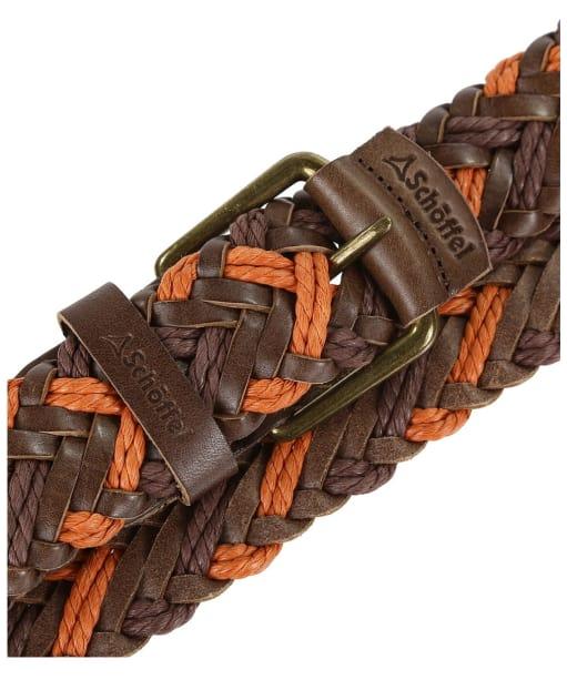 Schoffel Woven Leather Belt - Brown / Ochre
