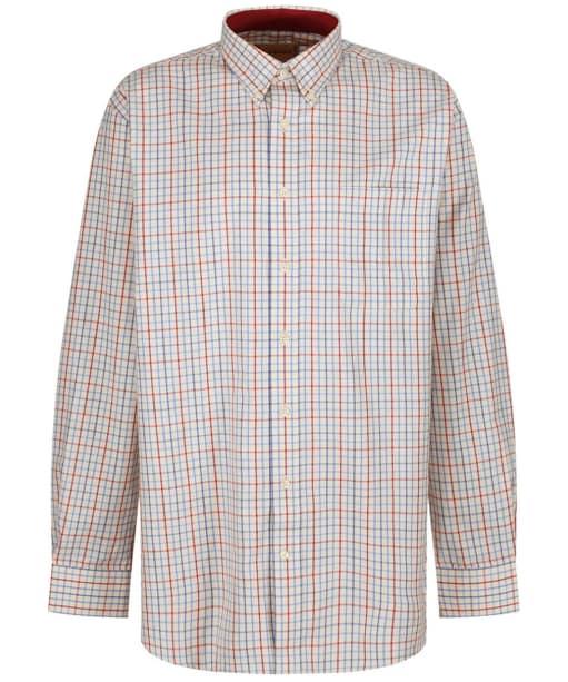 Men's Schoffel Banbury Shirt - Red / Denim Check