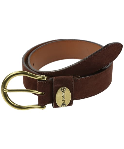 Women's Schoffel Suede Belt - Dark Brown
