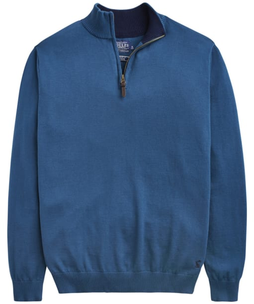 Men's Joules Hillside Half Zip Sweater - Teal Grey