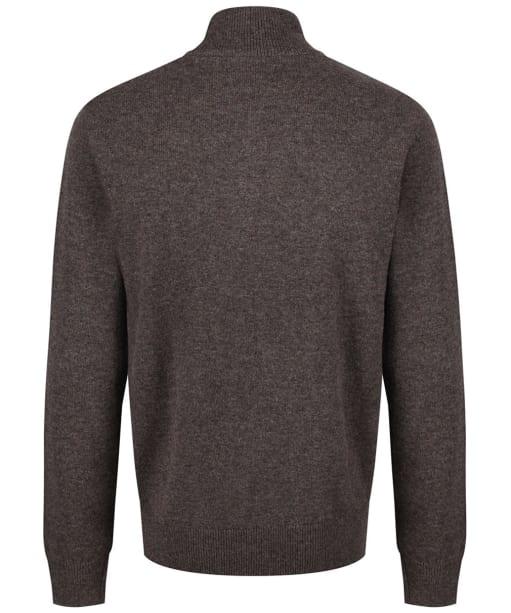Men's Schoffel Lambswool ¼ Zip Sweater - Mole