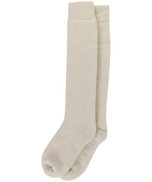 Women's Barbour Knee Length Wellington Socks - Pearl