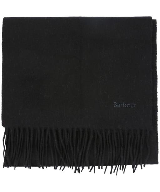 Women's Barbour Lambswool Woven Scarf - Black
