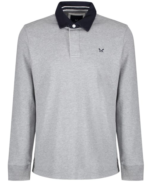 Men's Crew Clothing Rugby Shirt - Mid Grey Marl