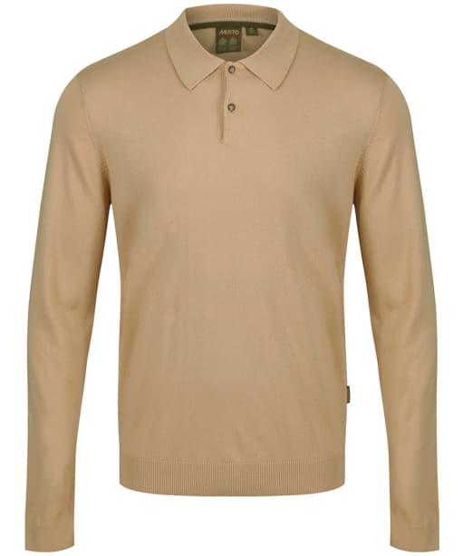 Men's Musto Polo Collar Knit Sweater - Tan