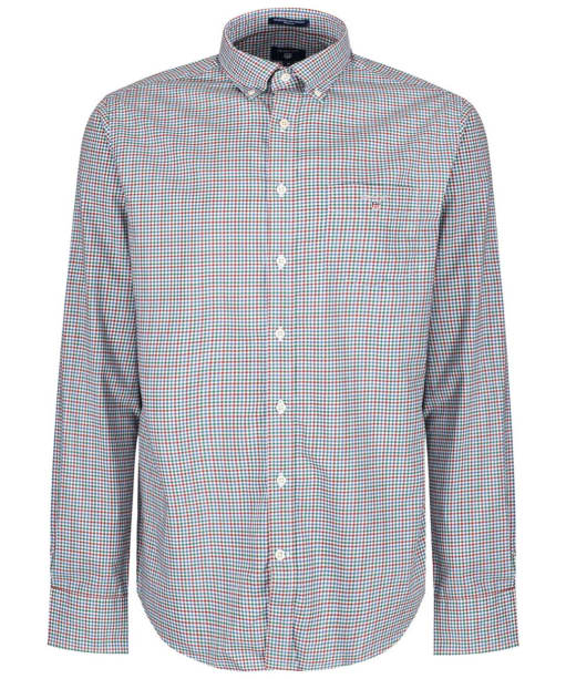 Men's GANT Broadcloth Gingham Shirt - Smoked Paprika
