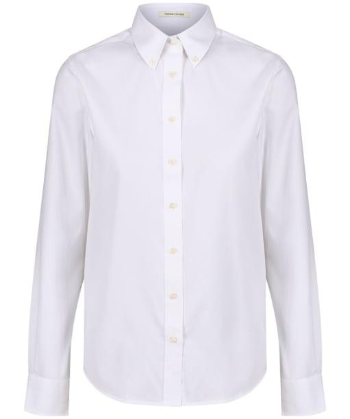 Women's GANT Diamond G Pinpoint Oxford Shirt - White