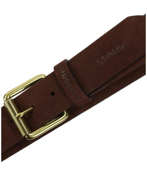 Men's Schoffel Suede Belt - Dark Brown