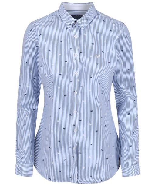 Women's Crew Clothing Lulworth Shirt - White / Blue