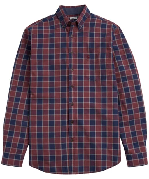 Men's Joules Lanston Marl Check Shirt - Cabernet Check