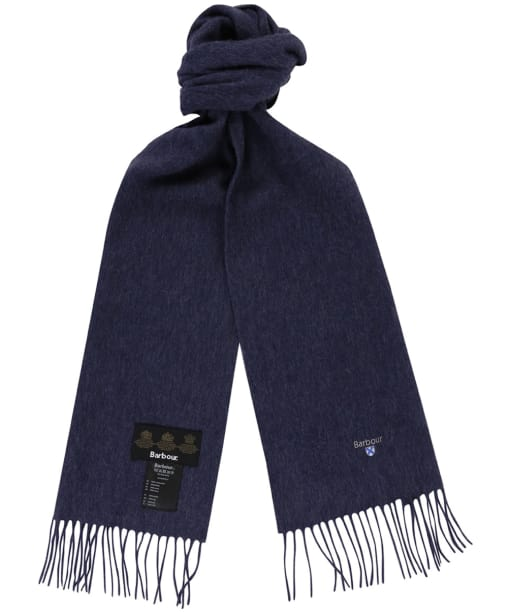 Barbour Plain Lambswool Scarf - Sapphire Blue Mix