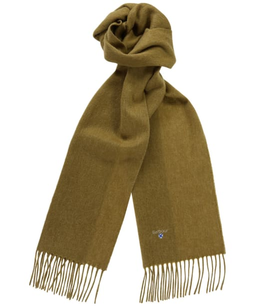 Barbour Plain Lambswool Scarf - Asparagus Mix