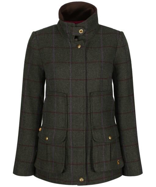 Women's Joules Tweed Fieldcoat - Green Tweed
