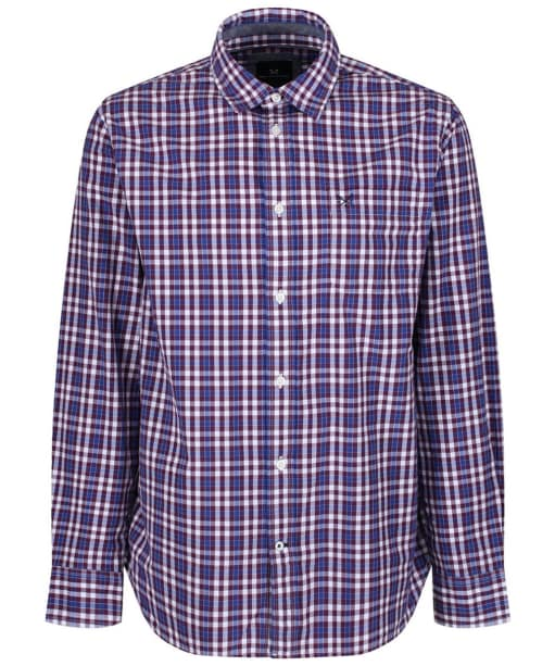 Men's Crew Clothing Westleigh Classic Check Shirt - Washed Plum
