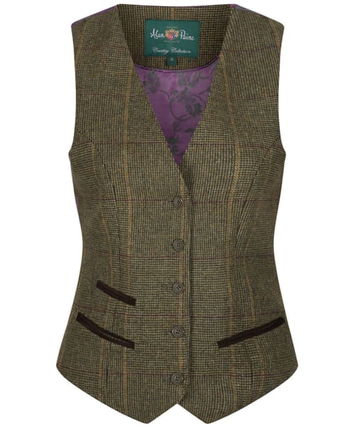 Women's Alan Paine Combrook Lined Back Waistcoat - Heather