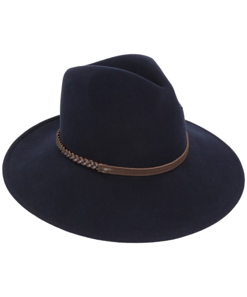 Barbour Tack Fedora Hat - Navy