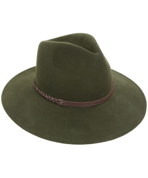 Barbour Tack Fedora Hat - Moss Green