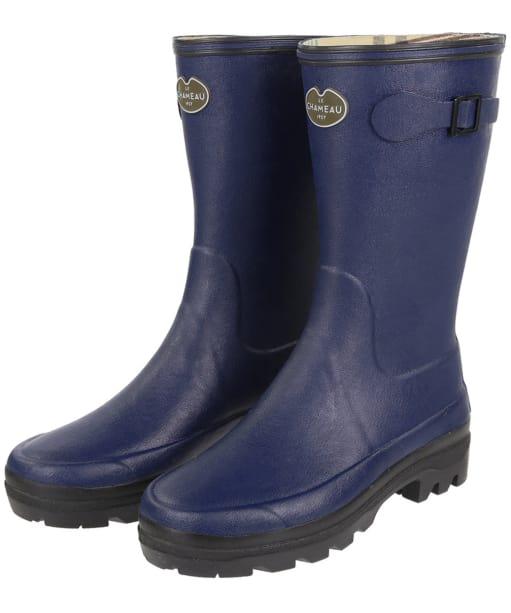 Women's Le Chameau Giverny Botillon Wellington Boots - Marine