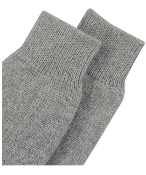 Women's Barbour Knee Length Wellington Socks - Light Grey