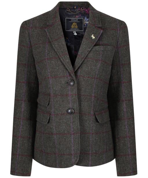 Women's Joules Wiscombe Tweed Blazer - Green Tweed
